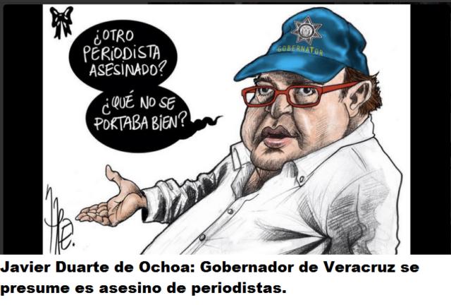 Caricatura del gobernador de Veracruz, Javier Duarte (Fuente: Internet)