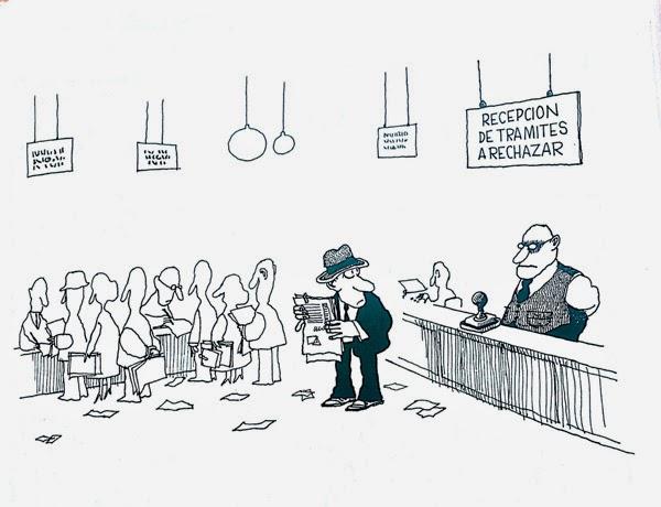 La irracionalidad de la burocracia. Autor: Quino.