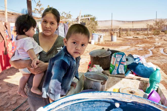 La escasez de agua potable en Ensenada, afecta a más de un tercio de la población del municipio (Foto: Edgar Lima / La Jornada).