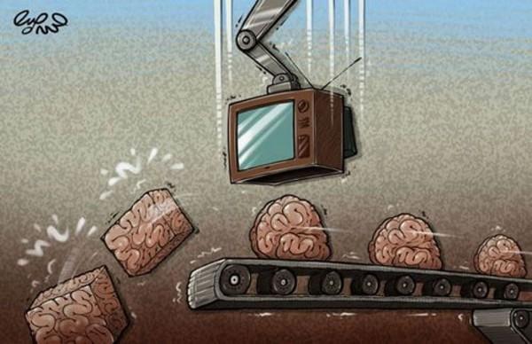 La manipulación mediática homogeneizando la opinión pública. Imagen: Internet