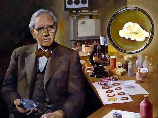 Alexander Fleming descubrió que por indolencia de limpieza en su laboratorio, un moho había contaminado sus cultivos de virus de la gripe. No obstante, el área que rodeaba el moho ¡estaba libre del maligno microbio! (Foto: Internet).