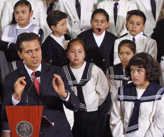 Peña Nieto, un presidente alejado del contexto educativo mexicano. Foto: Internet.