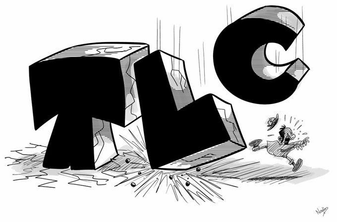 TLC. Caricatura: Internet.