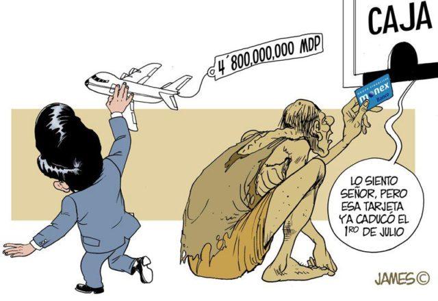 El avión presidencial, que al final tuvo un costo total de 8 mil 070 millones 56 mil 335 pesos