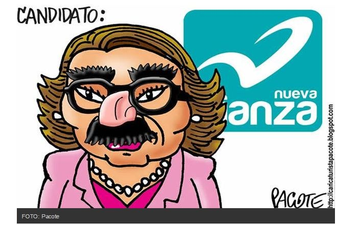 Candidato Nueva Alianza. Carton: Pacote