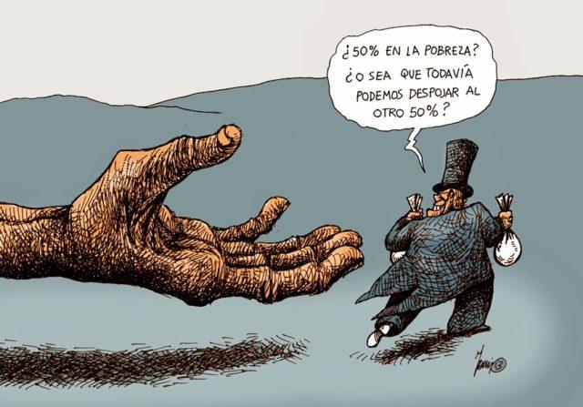 55 millones de pobres en México. Imagen: Internet.