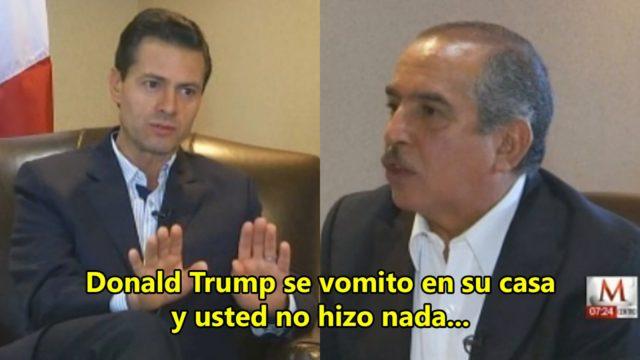 Carlos Marín en entrevista con Peña Nieto para Milenio TV, medio oficialista que retoma la estrategia de distanciarse del poder