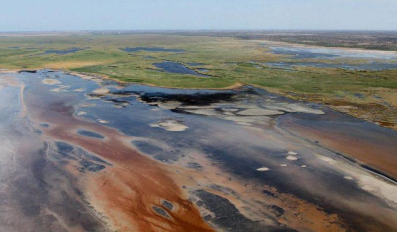 El río Colorado cerca de su desembocadura en el Alto Golfo de California (Foto: Internet).