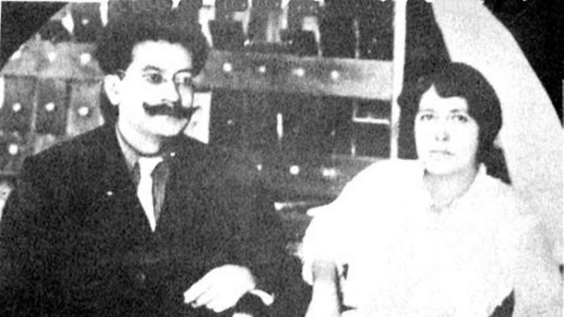 Ricardo Flores Magón y María Brousse de Talavera, su esposa, quien después de la muerte del revolucionario decidió radicar en Baja California hasta el último día de su existencia. Su tumba se encuentra en un panteón de esta ciudad porteña de Baja California. Foto: internet
